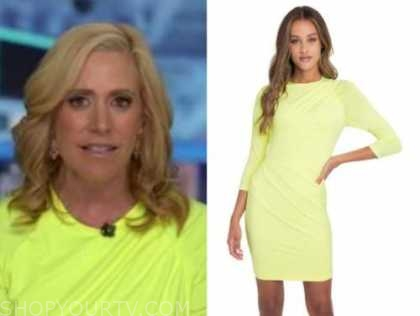 melissa francis, outnumbered, neon yellow dress