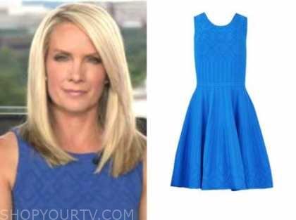 dana perino, the five, blue knit dress