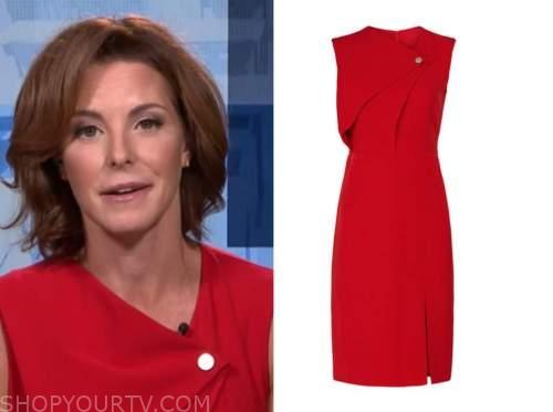 stephanie ruhle, the today show, red sheath dress