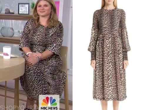 jenna bush hager, the today show, leopard dress