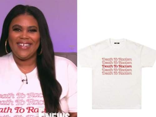 niña parker, death to racism tee, E! news nightly pop