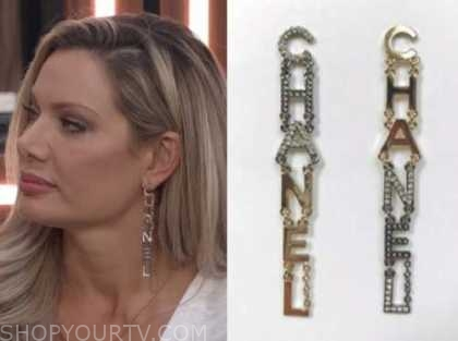 letter drop earrings, big brother all stars, janelle pierzina