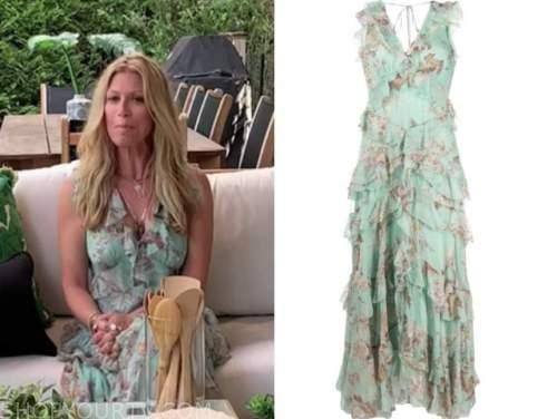 jill martin, mint green floral ruffle dress, the today show