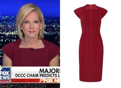 shannon bream, fox news at night, burgundy dress
