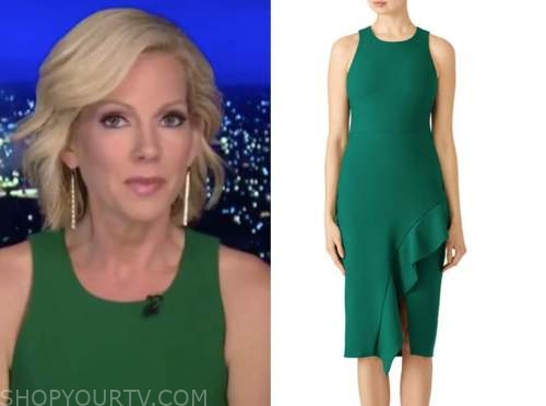 shannon bream, fox news at night, green dress