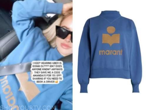 amanda stanton, the bachelor, blue sweatshirt