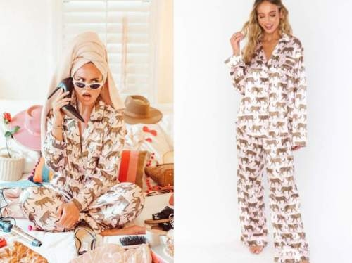 hannah brown, the bachelorette, pink cat printed pajamas
