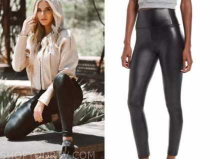 haley ferguson, black leather leggings, the bachelor