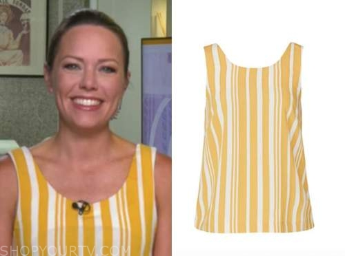 dylan dreyer, the today show, yellow and white striped top