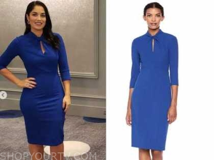 dr. viviana coles, blue twist keyhole sheath dress, married at first sight