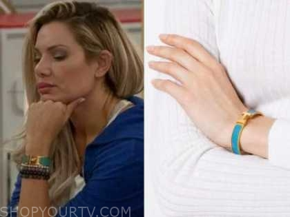 janelle pierzina, big brother all stars, turquoise blue and gold bracelet