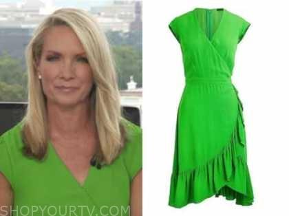 the daily briefing, dana perino, green wrap dress