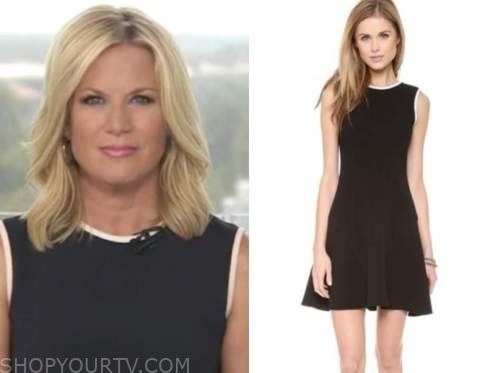 martha maccallum, outnumbered, contrast trim sheath dress
