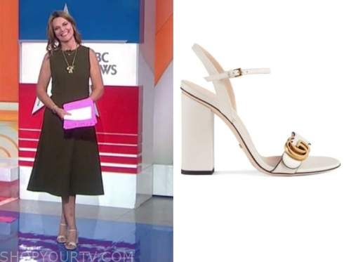 savannah guthrie, white sandals, the today show