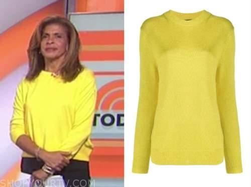 hoda kotb, yellow sweater, the today show