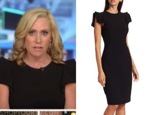 melissa francis, black cap sleeve dress, outnumbered