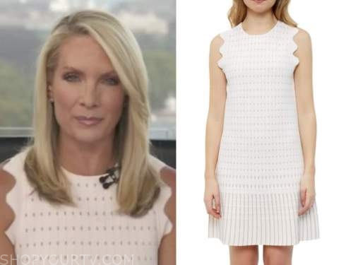 dana perino, white scallop knit dress, the daily briefing