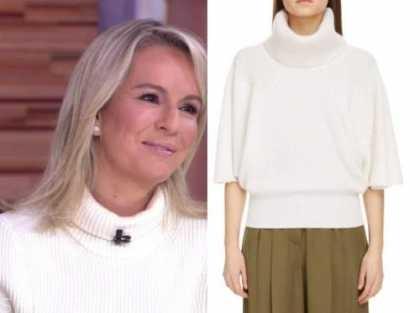dr. jennifer ashton, good morning america, white turtleneck sweater