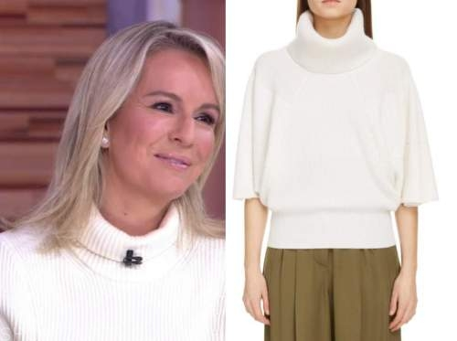 dr. jennifer ashton, good morning america, white turtleneck sweater