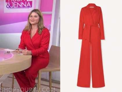 jenna bush hager, the today show, red jumpsuit