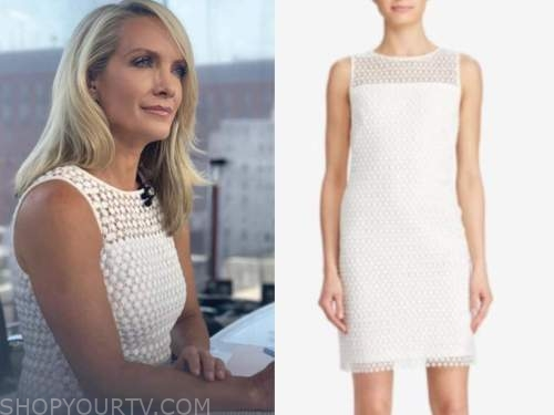 dana perino, the daily briefing, white lace dress