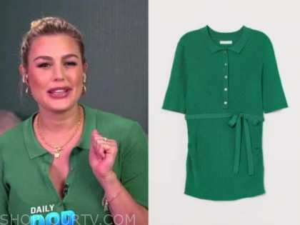 carissa culiner, green ribbed knit top, E! news, daily pop