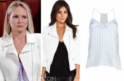sharon case, sharon newman, the young and the restless, white jacket