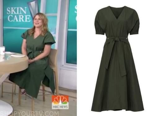 jenna bush hager, the today show, green utility midi dress
