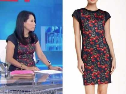 vicky nguyen, the today show, cherry print sheath dress