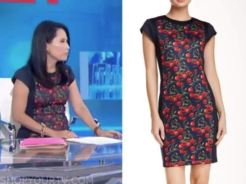 vicky nguyen, the today show, cherry print sheath dress