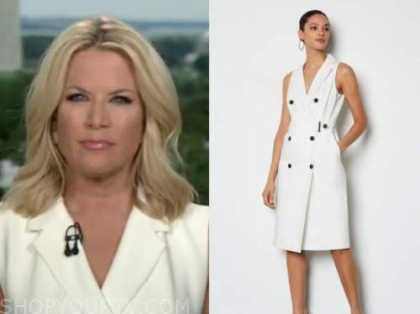 the story, martha maccallum, ivory double breasted dress