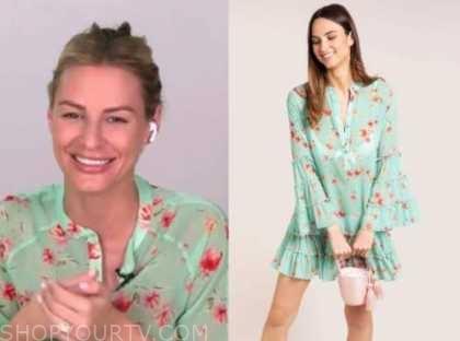 morgan stewart, mint green floral dress, E! news