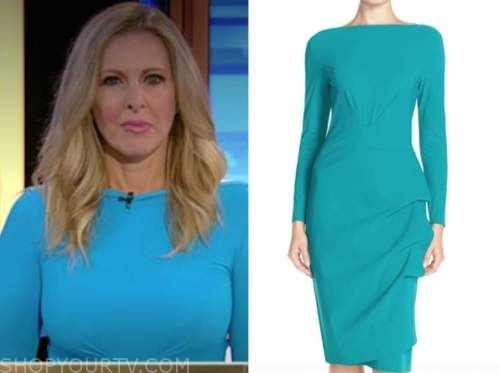 cheryl casone, blue boatneck dress, fox and friends