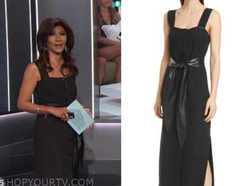 julie chen, big brother all stars, black button down dress