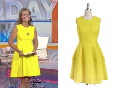 savannah guthrie, the today show, yellow flare dress