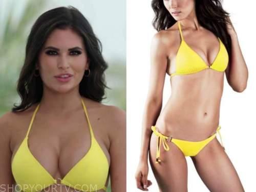kierstan, love island usa , yellow bikini