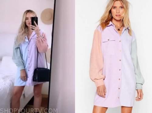 amanda stanton, the bachelor, colorblock shirt dress