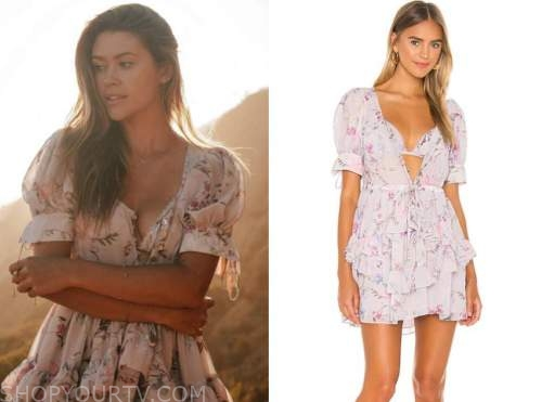 caelynn miller-keyes, the bachelor, floral tiered ruffle dress