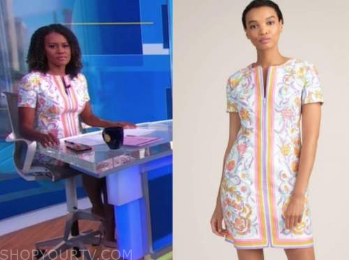 janai norman, floral tunic shift dress, good morning america