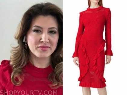 Dr. Jennifer Nesheiwat, fox and friends, red knit ruffle dress