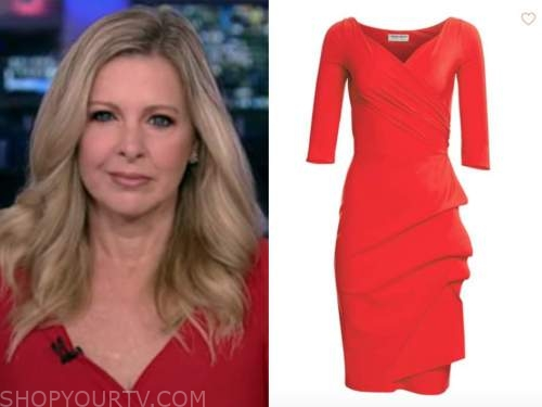 cheryl casone, fox and friends ,red dress