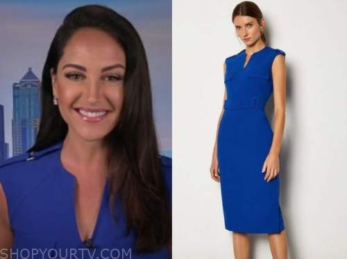 emily compagno, fox and friends, blue dress
