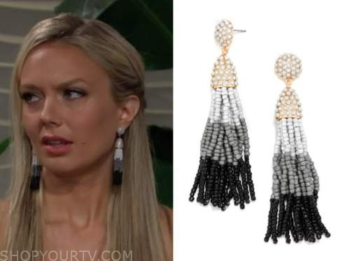 abby newman, ombre tassel earrings, the young and the restless