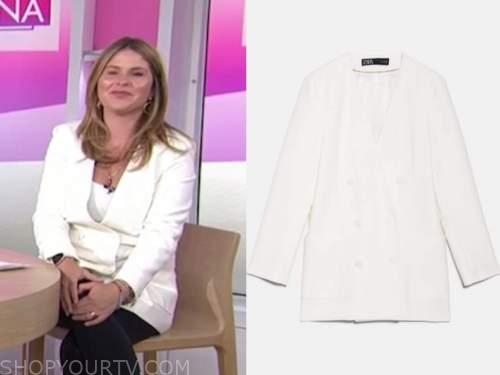 jenna bush hager, the today show, white blazer