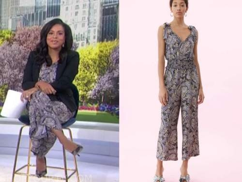 sheinelle jones, the today show, paisley print jumpsuit