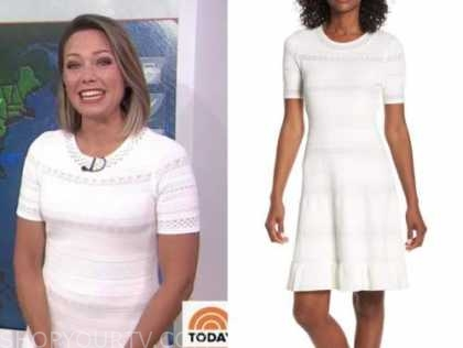 dylan dreyer, the today show, white knit dress