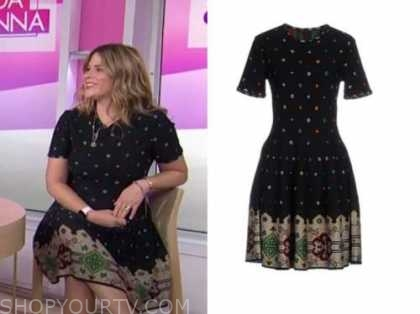 the today show, jenna bush hager, black knit dress