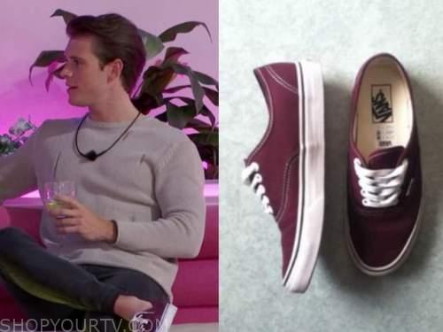 calvin klein, burgundy sneakers, love island usa