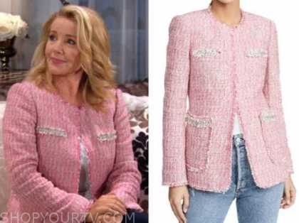 nikki newman, the young and the restless, melody thomas scott, pink tweed jacket