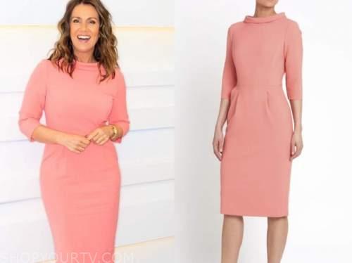 susanna reid, coral dress, good morning britain